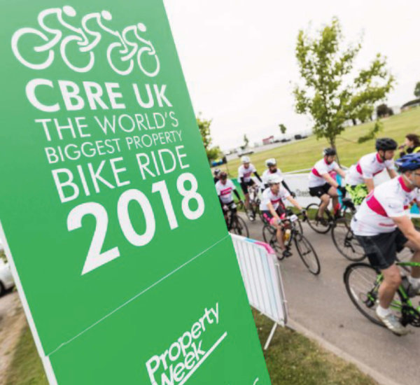 CBRE charity bike ride – Case study